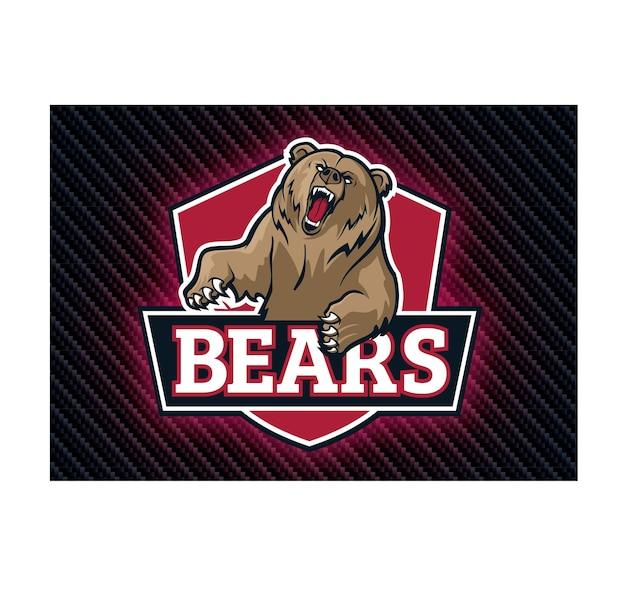 Niedźwiedzie logo e-sportu