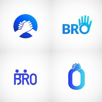 Nieformalne powitanie uścisk dłoni streszczenie znak