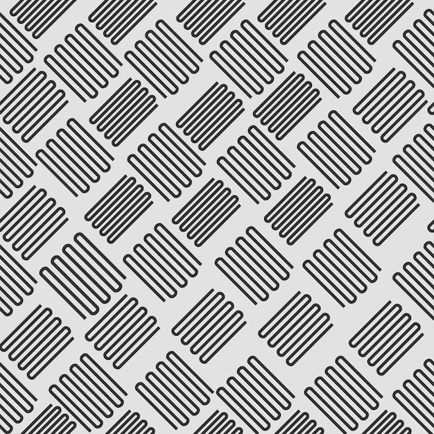 Niekończące się zakrzywione linie wzór tła w kolorze czarnym i szarym.