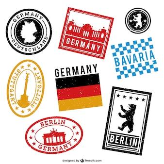 Niemcy drukowane znaczki