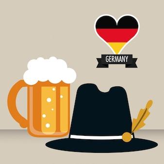 Niemcy. ikona kultury. ilustracja