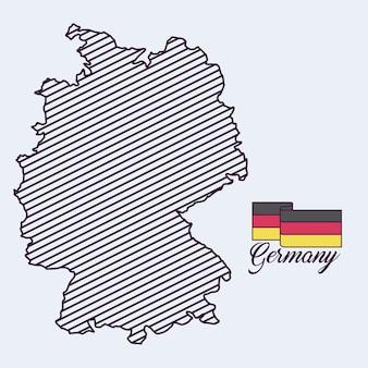 Niemcy mapa ikona na białym tle wektor ilustracja projektu