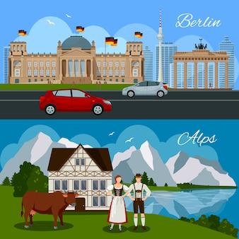 Niemcy płaska kompozycja