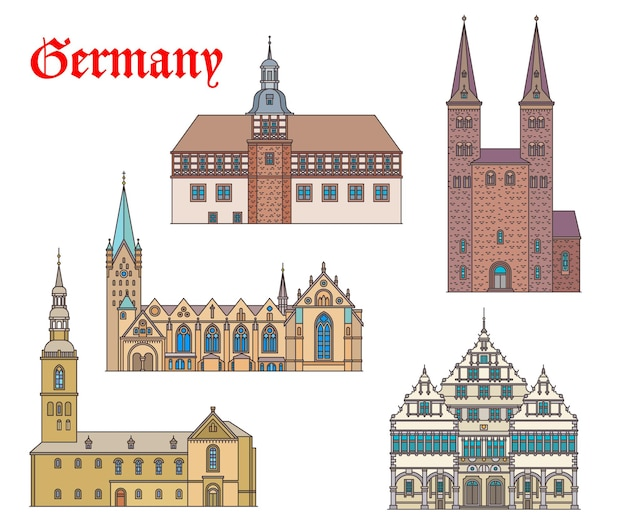 Niemcy przełomowe budynki architektura, kościoły i katedry