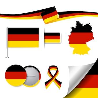 Niemcy reprezentatywne kolekcja elementów