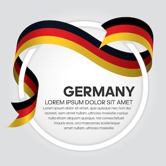 Niemcy wstążka flaga, ilustracja wektorowa na białym tle