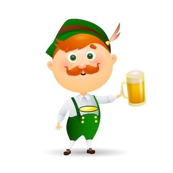 Niemiecki mężczyzna z piwem