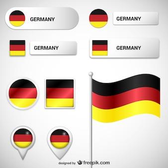 Niemieckie flagi i etykiety