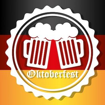 Niemieckie kultury i oktober fest design.