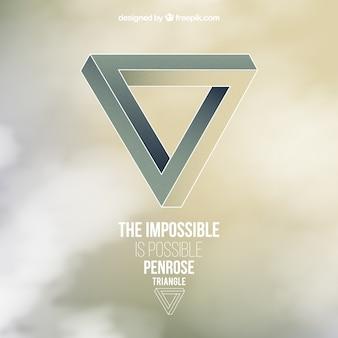 Niemożliwe trójkąt tle