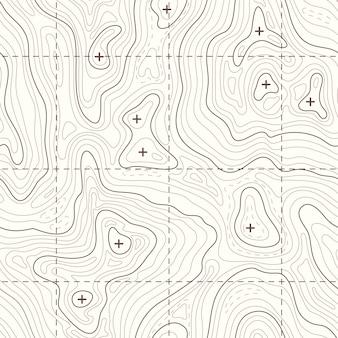 Niepewna mapa topograficzna terenu. krajobrazowa mapa dla podróży halna ilustracja