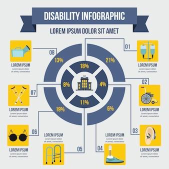 Nieprawidłowy szablon infographic, płaski