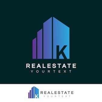 Nieruchomość początkowa litera k projekt logo