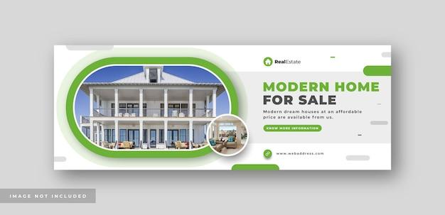 Nieruchomość sprzedaż domu w mediach społecznościowych okładka baner internetowy