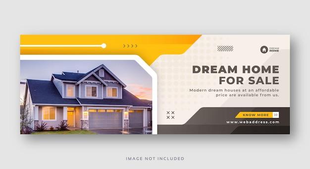 Nieruchomość sprzedaż domu w mediach społecznościowych okładka banne web
