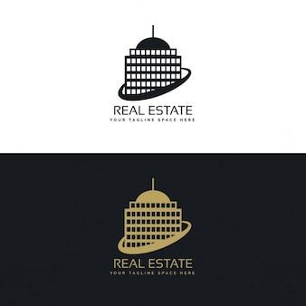 Nieruchomości koncepcji logo firmy