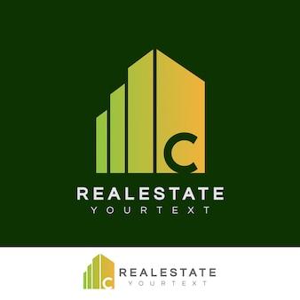 Nieruchomości początkowe litera c logo projektu