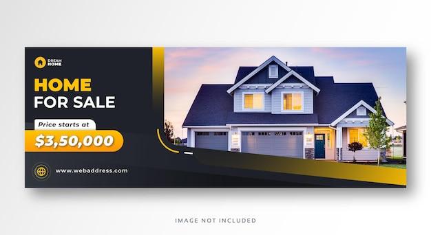 Nieruchomości sprzedaż domu media społecznościowe okładka baner internetowy