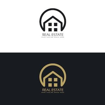 Nieruchomości szablon projektowanie logo