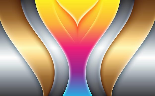 Niesamowita abstrakcyjna geometryczna kolorowa ilustracja dla tła układu złotego banera