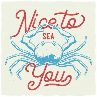 Niesamowita ilustracja krabów