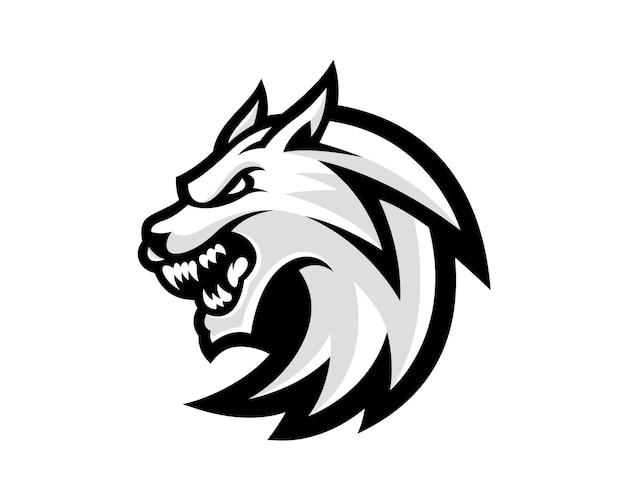 Niesamowita ilustracja logo głowa wilka