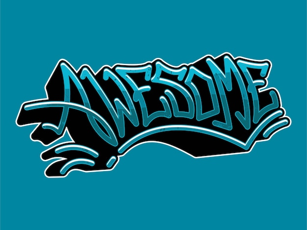 Niesamowita typografia graffiti
