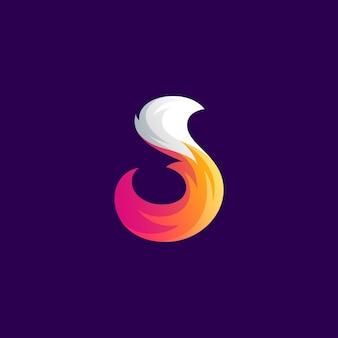 Niesamowite kolorowe logo lisa