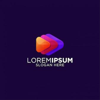 Niesamowite kolorowe logo premium