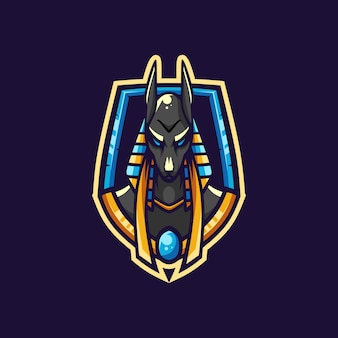 Niesamowite logo e-sportu anubis