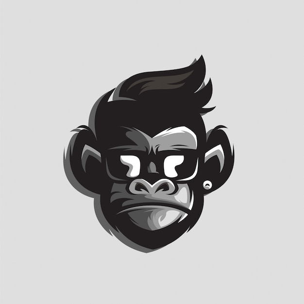 Niesamowite logo goryla