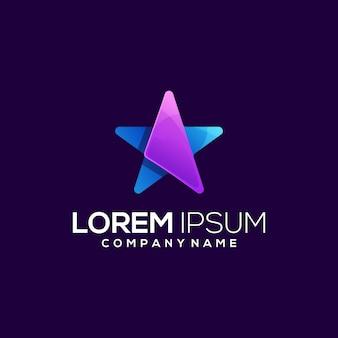 Niesamowite logo ikony gwiazdy