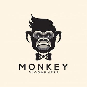 Niesamowite logo ilustracja małpa