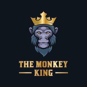 Niesamowite logo króla małp