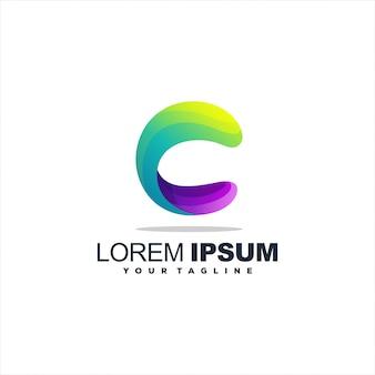 Niesamowite logo litery c.