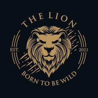 Niesamowite logo lwa maskotka