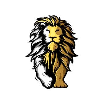 Niesamowite logo lwa maskotki