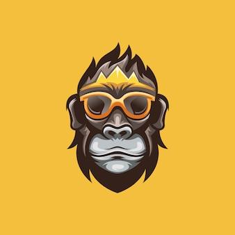 Niesamowite logo małpy