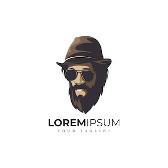 Niesamowite logo man beard
