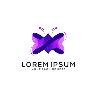 Niesamowite logo motyl streszczenie