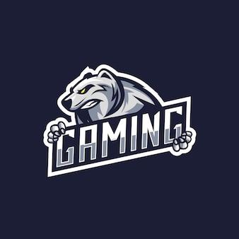 Niesamowite logo niedźwiedzia polarnego dla graczy
