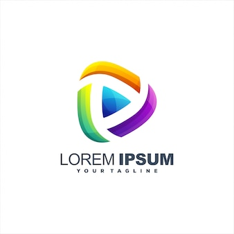 Niesamowite logo odtwarzania mediów
