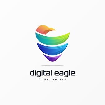 Niesamowite logo orła
