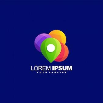 Niesamowite logo pin