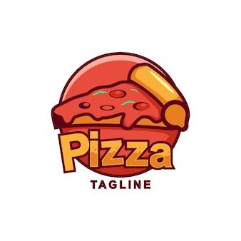 Niesamowite logo pizza premium