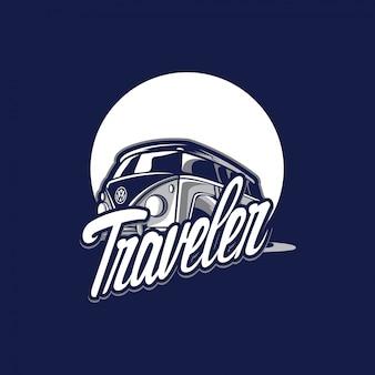 Niesamowite logo podróżnika