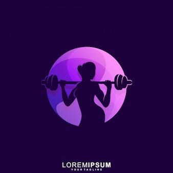 Niesamowite logo premium fitness