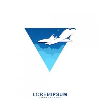 Niesamowite logo premium samolotu kosmicznego