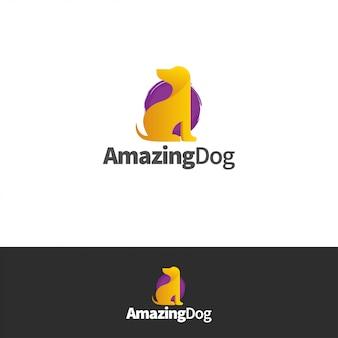 Niesamowite logo psa