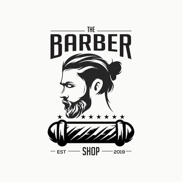 Niesamowite logo sklepu fryzjerskiego